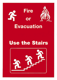 Fire or evacuation - use the stairs